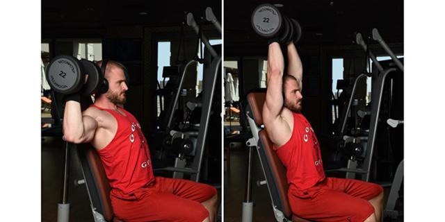 Dumbbell Shoulder Press (Fotoğraflı Hareket Anlatımı)