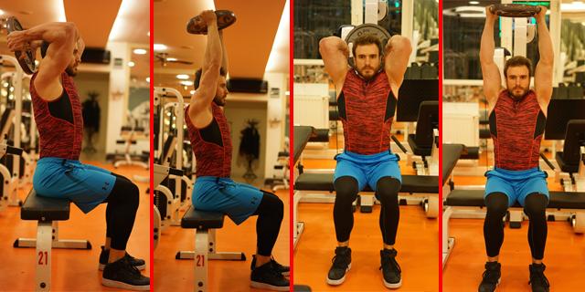 Fotoğraflı Hareket Anlatımı: Plate Triceps Extension