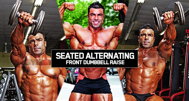 Seated Alternatıng Front Dumbbell Raıse