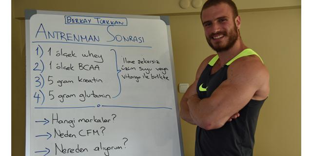 Bir Fitness Modelin Antrenman Sonrası Karışımında Neler Var? (Video Anlatım)